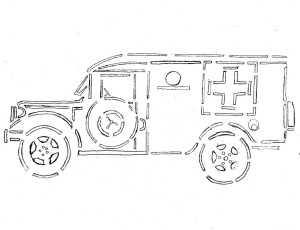M43 Ambulance Pumpkin carving pattern